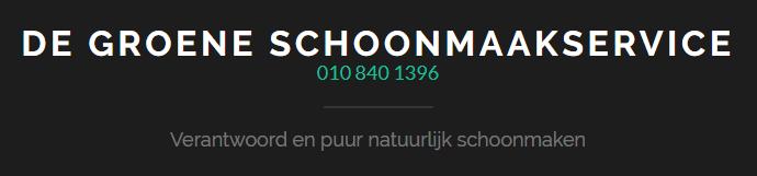 Wij zijn De Groene Schoonmaakservice in Rotterdam